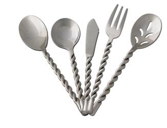 Houseware silverware - Twisted silverware ...
